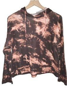 GingerG Acid Wash/Tie Dye Cropped Hoodie Shirt Lg